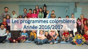 Les programmes colombiens Anne 20162017 Les programmes instruments