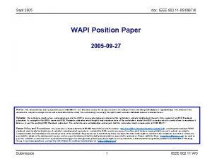 Sept 2005 doc IEEE 802 11 050967 r