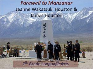 Farewell to Manzanar Jeanne Wakatsuki Houston James Houston
