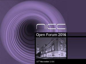Open Forum 2016 04112016 10 th November 2016