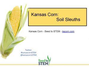 Kansas Corn Soil Sleuths Kansas Corn Seed to