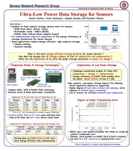 Sensor Network Research Group University of Massachusetts Amherst