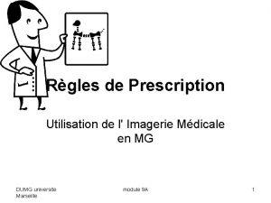 Rgles de Prescription Utilisation de l Imagerie Mdicale