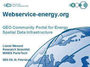 Webserviceenergy org GEO Community Portal for Energy Spatial