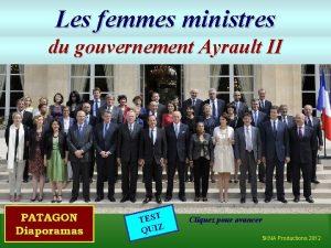Les femmes ministres du gouvernement Ayrault II TEST