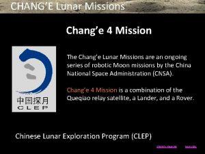 CHANGE Lunar Missions Change 4 Mission The Change
