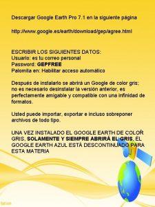 Descargar Google Earth Pro 7 1 en la