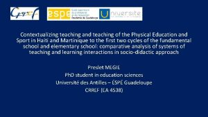 Contextualizing teaching and teaching of the Physical Education