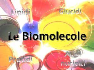 Glucidi Le Biomolecole Gruppi funzionali Gruppo ossidrilico Gruppo