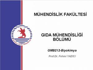 MHENDSLK FAKLTES GIDA MHENDSL BLM GMB 212 Biyokimya