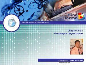 Mata Kuliah Algoritma dan Pemrograman 4 SKS Chapter