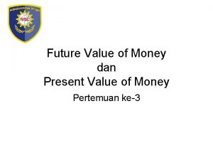 Future Value of Money dan Present Value of