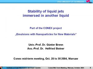 Stability of liquid jets immersed in another liquid