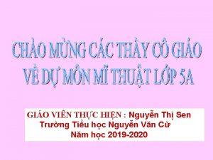 GIO VIN THC HIN Nguyn Th Sen Trng