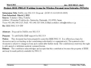 March 2012 doc IEEE 802 15 doc Project