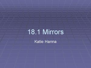 18 1 Mirrors Katie Hanna Mirrors Mirrors are