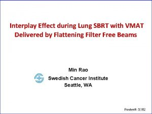 Interplay Effect during Lung SBRT with VMAT Delivered