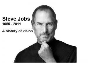 Steve Jobs 1955 2011 Steve Jobs A history