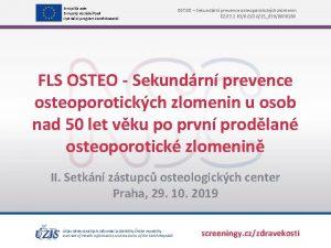 Evropsk unie Evropsk sociln fond Operan program Zamstnanost
