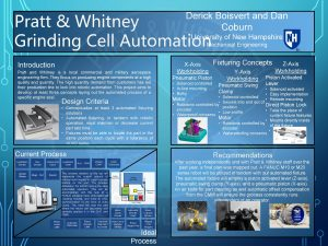 Pratt Whitney University of New Hampshire Grinding Cell