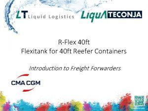 RFlex 40 ft Flexitank for 40 ft Reefer