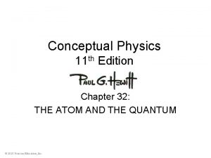 Conceptual Physics 11 th Edition Chapter 32 THE
