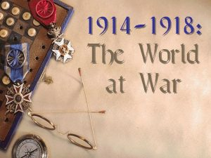 1914 1918 The World at War Causes of