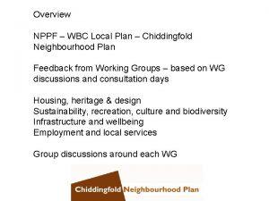 Overview NPPF WBC Local Plan Chiddingfold Neighbourhood Plan