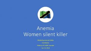 Anemia Women silent killer Elizabeth proscovia Ndaba Nutritionist