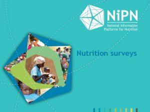 Nutrition surveys Nutrition surveys Objectives Different types of