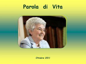 Parola di Vita Ottobre 2011 Seguimi Mt 9