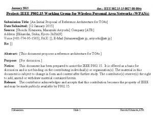 January 2015 doc IEEE 802 15 15 0027