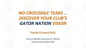 NO CROCODILE TEARS DISCOVER YOUR CLUBS GATOR NATION