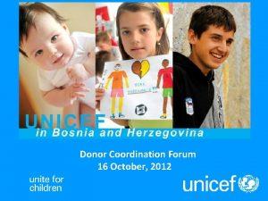 Donor Coordination Forum 16 October 2012 3 key