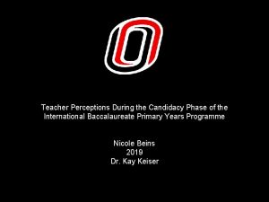 Teacher Perceptions During the Candidacy Phase of the