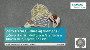 Zero Harm Culture Siemens Zero Harm Kultura u