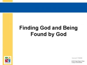 Finding God and Being Found by God Document