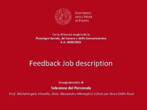 Corso di laurea magistrale in Psicologia Sociale del