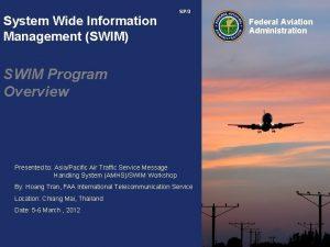 System Wide Information Management SWIM SP3 SWIM Program