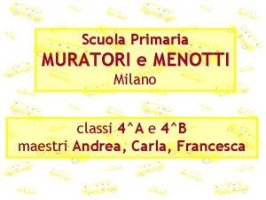 Scuola Primaria MURATORI e MENOTTI Milano classi 4A