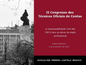 II Congresso dos Tcnicos Oficiais de Contas A