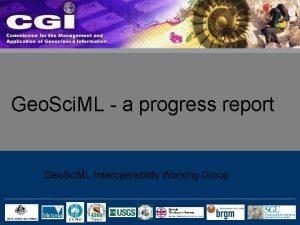 Geo Sci ML a progress report Geo Sci