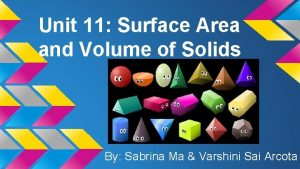Unit 11 Surface Area and Volume of Solids