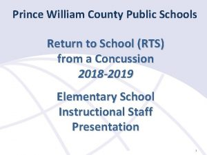 Prince William County Public Schools Return to School