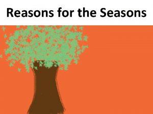 Reasons for the Seasons Nearly 150 million kilometers