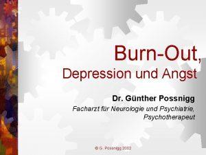 BurnOut Depression und Angst Dr Gnther Possnigg Facharzt