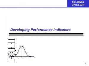 Six Sigma Green Belt Developing Performance Indicators 6