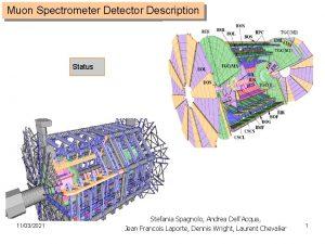 Muon Spectrometer Detector Description Status 11032021 Stefania Spagnolo