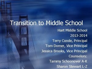 Transition to Middle School Hart Middle School 2013