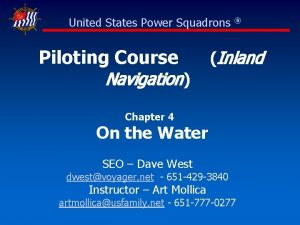 United States Power Squadrons Piloting Course Navigation Inland